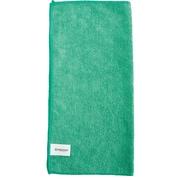 "Brighton Professional™ All Purpose Green Microfiber Cloths, 16""W x 16""L, Pack of 12 (BPR52878)"