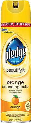 Pledge Orange Clean Furniture Spray, 9.7 Oz.