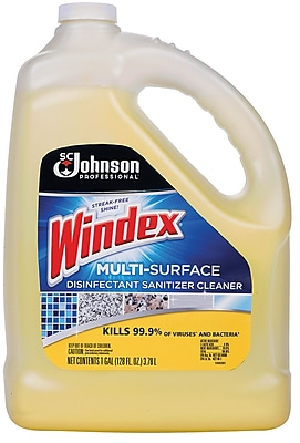 Windex Multi-Surface Disinfectant Sanitizer Cleaner Gallon Refill