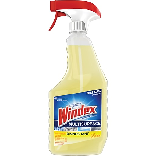 Sealed Air Windex® Multi-Surface Disinfectant, Citrus Scented, 26 oz., Pack of 8 (679594)