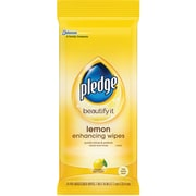 Pledge® Wipes, Lemon Scent, 24 Wipes/Pack