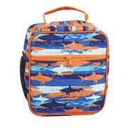"Staples Kids Lunch Bag, Sharks Pattern, 8.26""W x 9.45""H x 4.33""D (52434)"