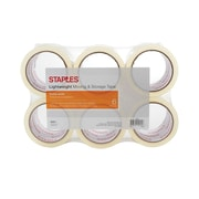 """Staples® Lightweight Moving & Storage Packing Tape, 2.83"""" x 54.6 Yds, Clear, 6/Rolls"""