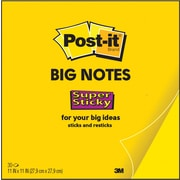 "Post-it® Super Sticky Big Notes, 11"" x 11"", Bright Yellow (BN11)"
