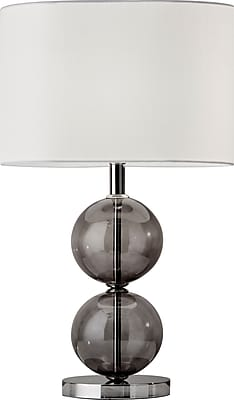 Adesso Incandescent Donna Tall Table Lamp Nickle (4148-09)