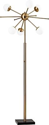 Adesso LED Doppler Floor Lamp Brass (4271-21)