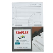 "Staples® Arc System 2018-2019 Academic Year Weekly Planner Refill Paper, 5-1/2"" x 8-1/2"" (22764-18)"