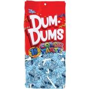 Dum Dums Lollipops, Color Party Ocean Blue, Cotton Candy Flavor, 12.8 oz., 75 Count Bag, 2 Pack (28700)