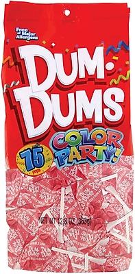 Dum Dums Lollipops, Color Party Light Pink, Bubble Gum Flavor, 12.8 oz., 75 Count Bag, 2 Pack (28200)