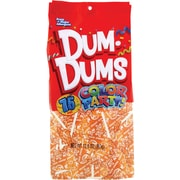 Dum Dums Lollipops, Color Party Orange , Orange Flavor, 12.8 oz., 75 Count Bag, 2 Pack (28300)