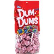 Dum Dums Lollipops, Color Party Hot Pink, Watermelon Flavor, 12.8 oz., 75 Count Bag, 2 Pack (28100)
