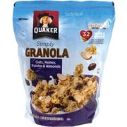 Quaker Simply Granola Oats, Honey, Raisins, & Almonds, 34.5 oz., 2 Pack (43607)