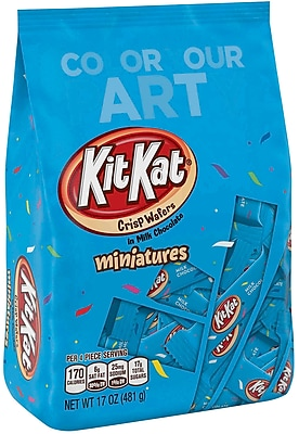 KIT KAT Miniatures, Blue, 17 oz., 2 Pack (22689)