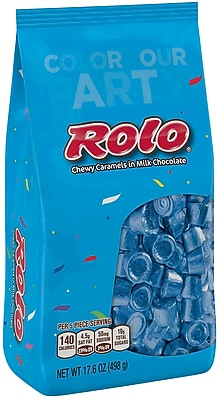ROLO Chewy Caramels in Milk Chocolate, Blue, 17.6 oz., 2 Pack (37887)