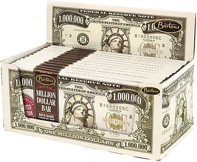 Bartons Million Dollar Bar Dark Chocolate, 2 oz, 12 Count, 2 Pack
