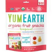 YumEarth Organic Tropical Fruit Snacks, 3.1 oz., 4 Pack (1637)
