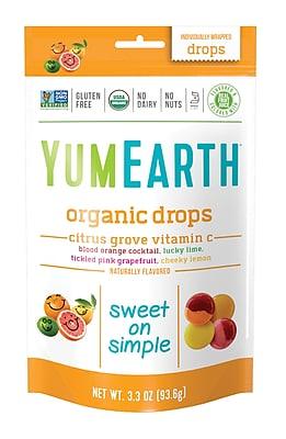 YumEarth Organic Vitamin C Citrus Grove Drops, 3.3 oz., 3 Pack (1155)