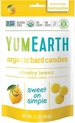 YumEarth Organic Cheeky Lemon Hard Candies, 3.3 oz., 3 Pack (0192)