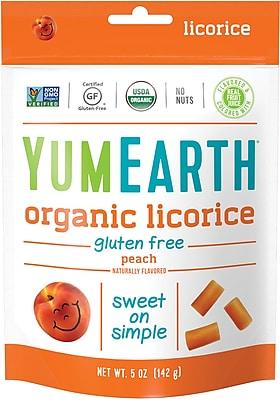 YumEarth Organic Gluten Free Peach Licorice, 5 oz., 4 Pack (1905)