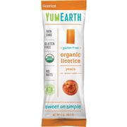 YumEarth Organic Gluten Free Peach Licorice, 5 oz., 4 Pack (1182)