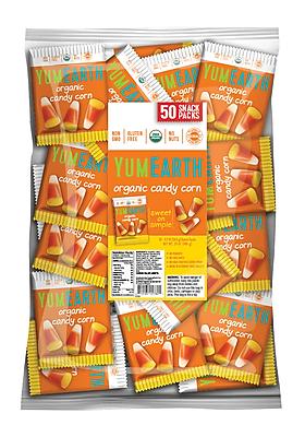 YumEarth Organic Candy Corn, 0.7 oz., 50 Count (1780)