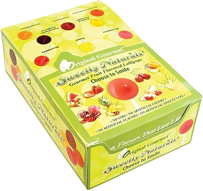 Original Gourmet Sweetly Naturals Lollipops, 48 Count