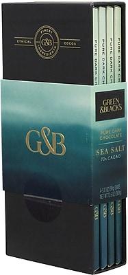 Green & Black's 70% Cacao Dark Chocolate Sea Salt, 4 Pack (0068)
