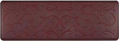 Wellnessmats® Estates Bella 6' x 2' Anti-Fatigue Floor Mat, Palm Wood (EB62WMRRGRY)