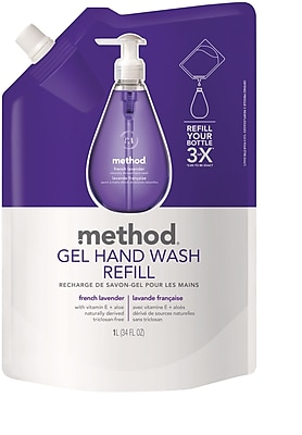Method Gel Hand Soap Refill, French Lavender, 34 Ounce (00654)