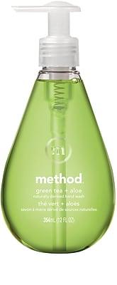 Method Gel Hand Wash, Green Tea + Aloe, 12 Ounce (00033)