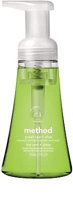 Method Foaming Hand Soap, Green Tea + Aloe, 10 Ounce (00362)