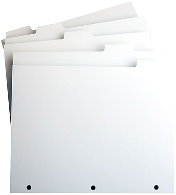"""Xerox® Revolution™ Tabs Single Reverse, 5 Bank, 3 Hole Punched, White, 9"""" W x 11""""L; 50 Sets"""