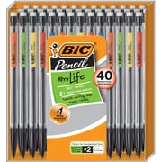BIC Xtra-Life Mechanical Pencils, No. 2 Medium Lead, 40/Pack (MPP40MJ-BLK)