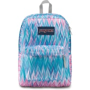 "JanSport SuperBreak Backpack, 16.7"" x 13"" x 8.5"", Painted Chevron (JS00T50140U)"
