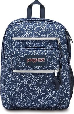 "JanSport Big Student Backpack, 17.5"" x 13"" x 10"", Navy Floral Field (JS00TDN750E)"