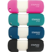 Staples 16 GB USB 2.0 Flash Drive 4-Pack