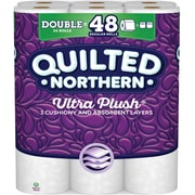 Quilted Northern Ultra Plush Toilet Paper, White, 24 Double Rolls