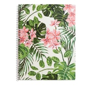 "Staples® 1 Subject Notebook, Wide Ruled, Leaves, 8"" x 10-1/2"""