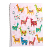 "Staples® 1 Subject Notebook, Wide Ruled, Llamas, 8"" x 10-1/2"""