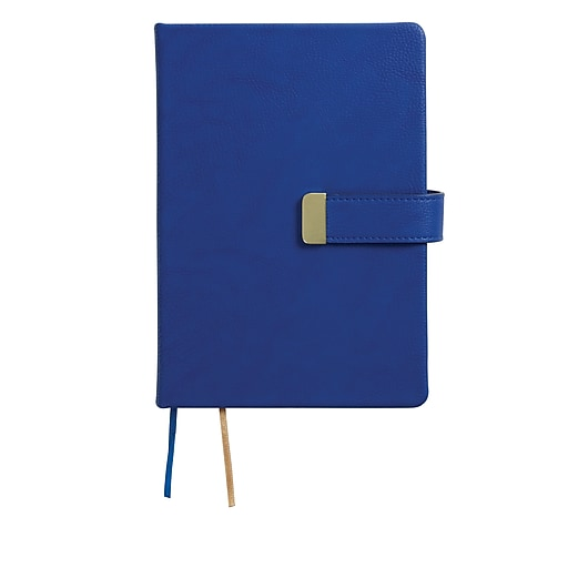 Staples® Hard Cover Notebook, 5-1/2'' x 7-3/4'', Blue (51519)
