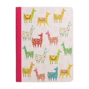 "Staples® Composition Notebook, Wide Ruled, Llamas, 9-3/4"" x 7-1/2"""