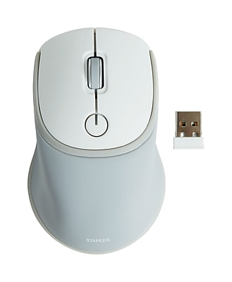 Staples Wireless Optical Gel Mouse, Gray