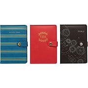 """Staples Debossed Leatherette Journal, 8.5"""" x 6"""", Assorted (MJ16A-1)"""