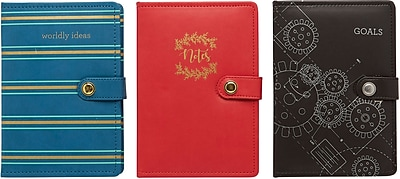 Staples Debossed Leatherette Journal, 8.5