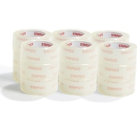 Deals on Staples Shipping Packing Tape 1.88-in x 54.6 Yds 18/Rolls