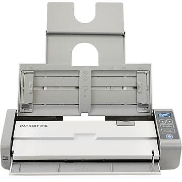 Visioneer Patriot PP15-U Desktop Scanner, White/Black/Gray