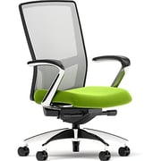 Workplace Series 500 Fabric Task Chair, Pear, Integrated Lumbar, Fixed Arms, Synchro, Partially Assembled