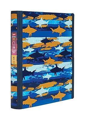 Staples® Better 1-Inch D 3-Ring View Binder, Shark