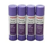 Staples Permanent Glue Sticks, 0.28 oz., 4/Pack (10446)