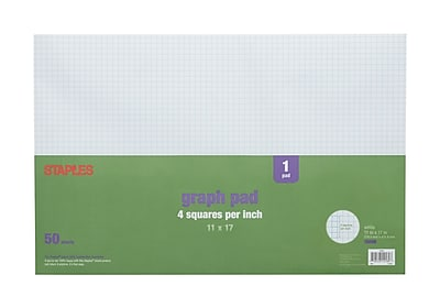 Staples 4 x 4 Graph Pad, 11